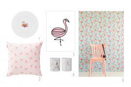 Inspiratie flamingo's interieur