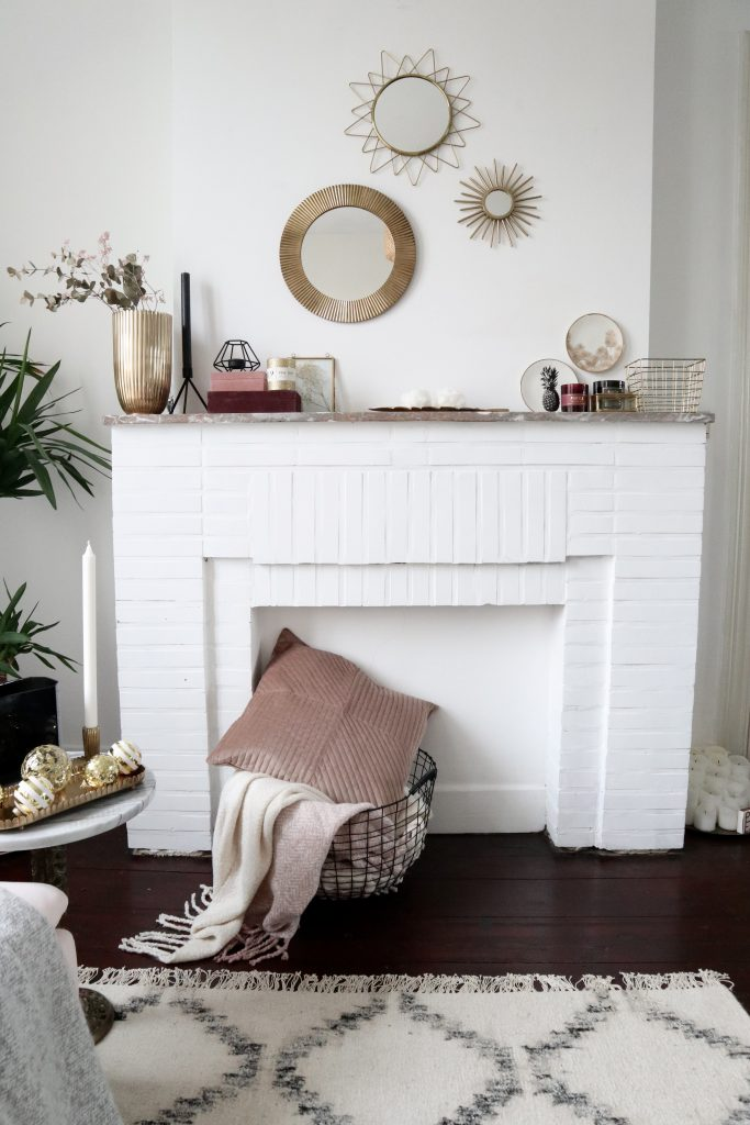 H&M Home cosy winter fireplace